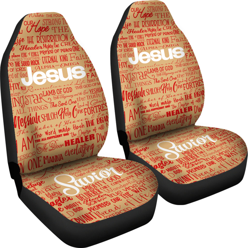 Names of JESUS -v2 Tan-Red-Wht - JaZazzy