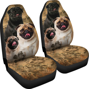 Pug Car Seat Covers (Set of 2) - JaZazzy
