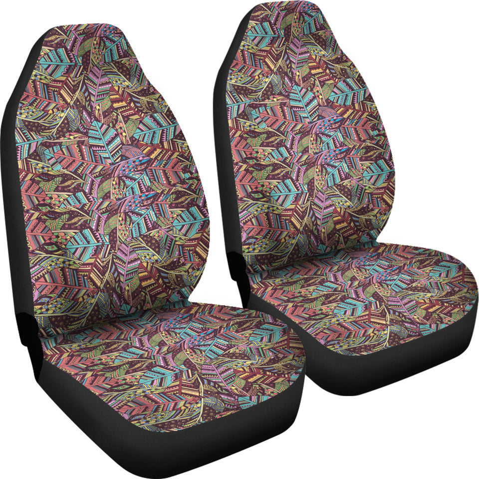 Boho Indian Feathers Car Seat Covers - JaZazzy