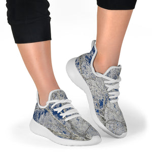 Mesh Knit Sneaker - Frost and Sky #3 Design - JaZazzy