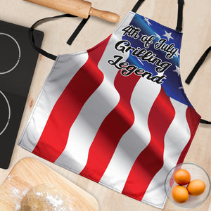 4th July Grilling Womens Apron - JaZazzy