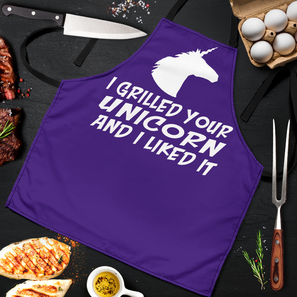 Grilled Unicorn Men's Apron - JaZazzy