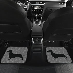 I Love Dachshunds Cute Front And Back Car Mats - JaZazzy