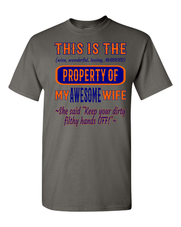 Adult Unisex T-Shirt_Property of Awesome Wife_CB_Athletic Heather - JaZazzy