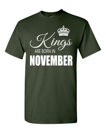Kings are born in November_T-Shirt_840 - JaZazzy