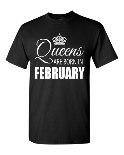 Queens are born in February_T-Shirts_840 - JaZazzy
