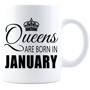 Queens are born in January_T-Shirt_840 Coffee Mug - White