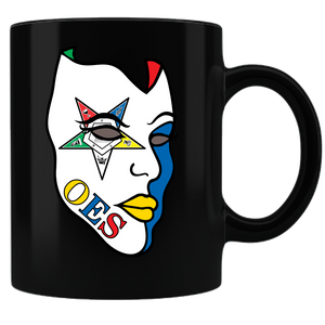 OES Mask Coffee Mug - Black - JaZazzy