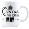 Queens are born in May_T-Shirt_840 Coffee Mug - White - JaZazzy