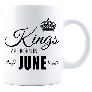 Kings are born in June Coffee Mug - White-Black - JaZazzy