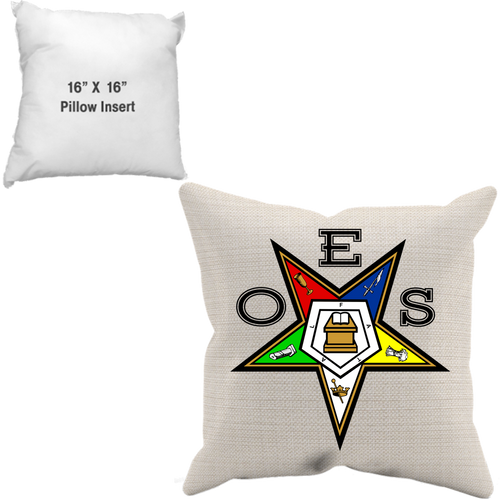 Order of the Eastern Star -FATAL- Throw Pillow Case + Insert - JaZazzy