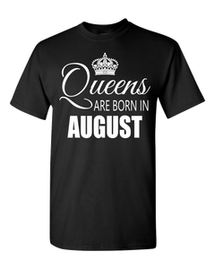 Queens are born in August_T-Shirt-Back