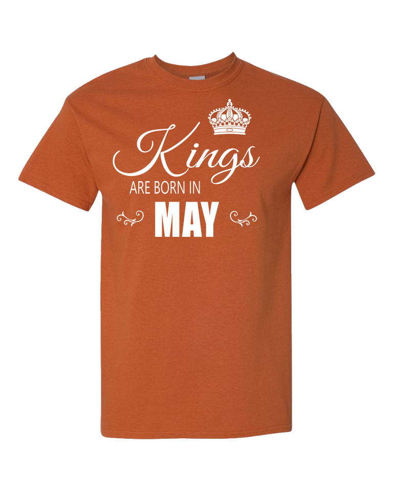 Kings are born in May_T-Shirt_840 - JaZazzy