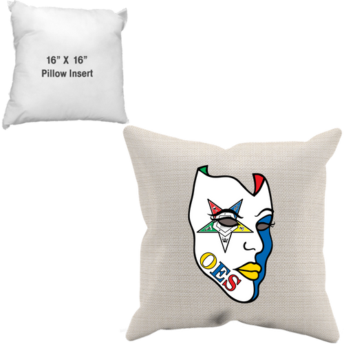 OES Mask Throw Pillow Case + Insert - JaZazzy