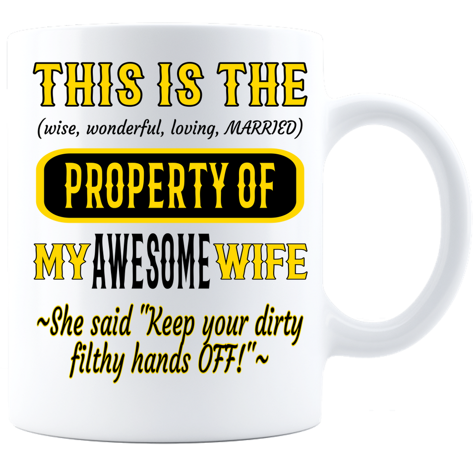 Coffee Mug_Property of Awesome Wife_PS_ White - JaZazzy