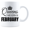 Queens are born in February_T-Shirts_840 Coffee Mug - White - JaZazzy