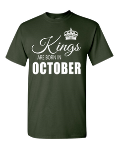 Kings are born in October_T-Shirt_840