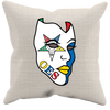 OES Mask Throw Pillow Case-Canvas - JaZazzy