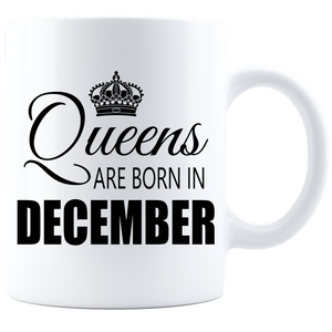 Queens are born in DEC 840 Coffee Mug - White - JaZazzy