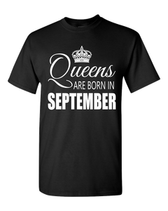 Queens are born in September_T-Shirt