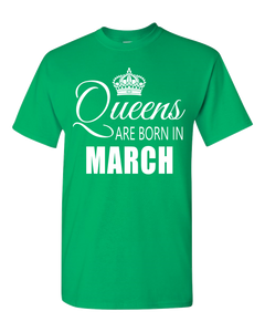 Queens are born in March_T-Shirt_840