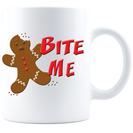 Bite Me Coffee Mug - White - JaZazzy