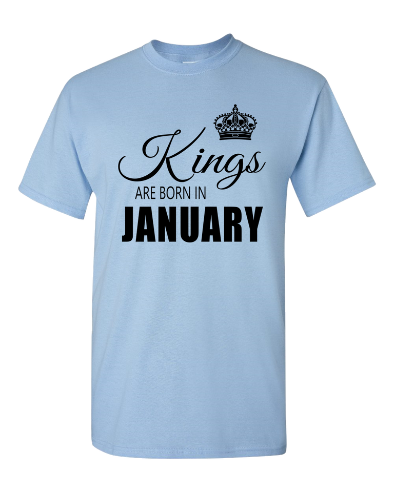 Kings are born in January_T-Shirt_ 840 - JaZazzy