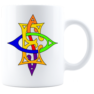 OES Labyrinth Coffee Mug - White - JaZazzy