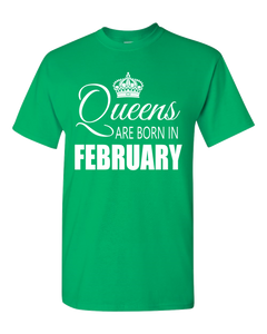 Queens are born in February_T-Shirts_840