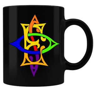 OES Labyrinth Coffee Mug - Black - JaZazzy