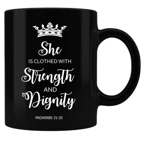 Proverbs 31 Coffee Mug - Black - JaZazzy