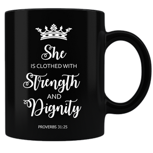 Proverbs 31 Coffee Mug - Black