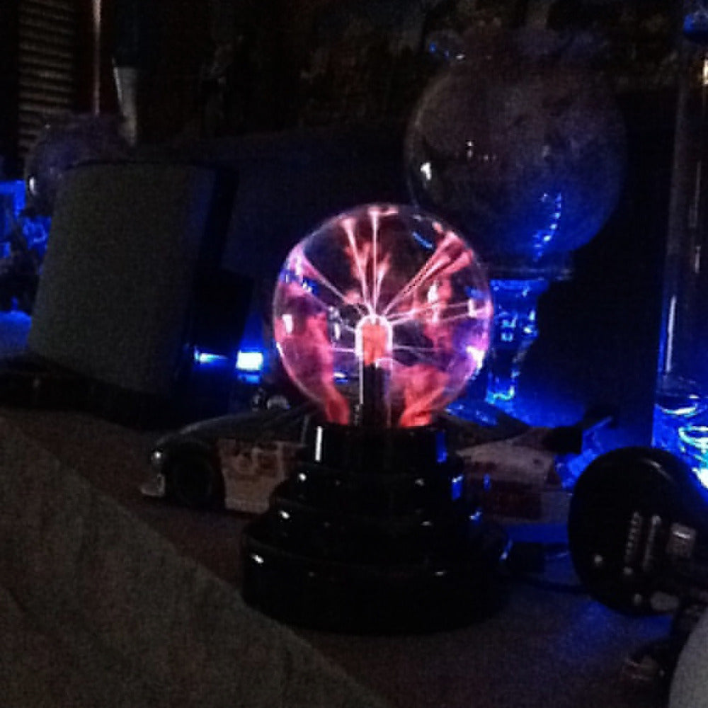 New 3 USB Plasma Ball electrostatic Sphere Light Magic Crystal Lamp ball Desktop Globe Laptop Lightning Light Christmas Party - JaZazzy