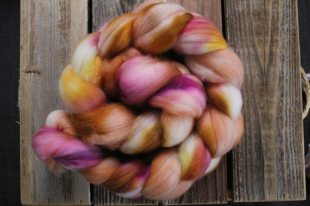 Peach Pie - SW Merino Roving Combed Top
