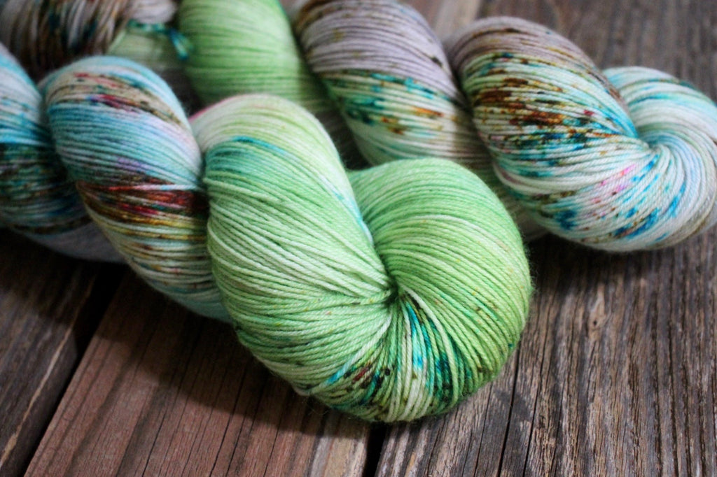 Lime and Coconut - BFL Sock