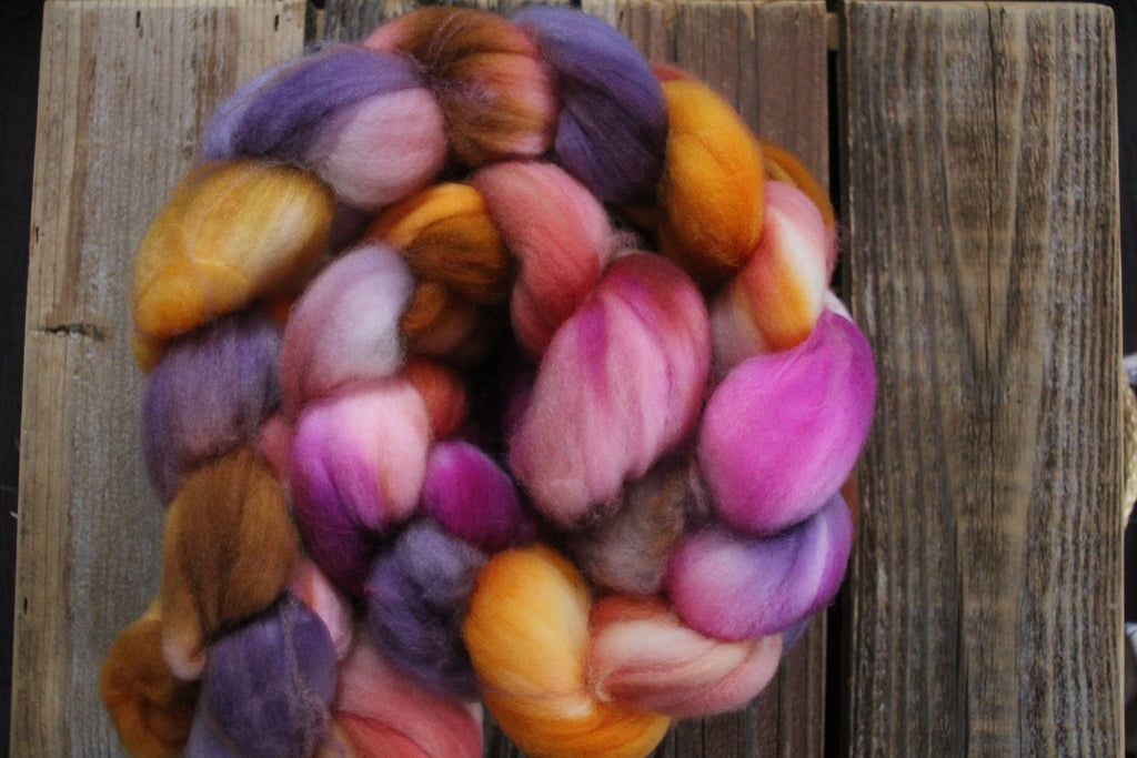 Spring Sunset - SW Merino Roving Combed Top