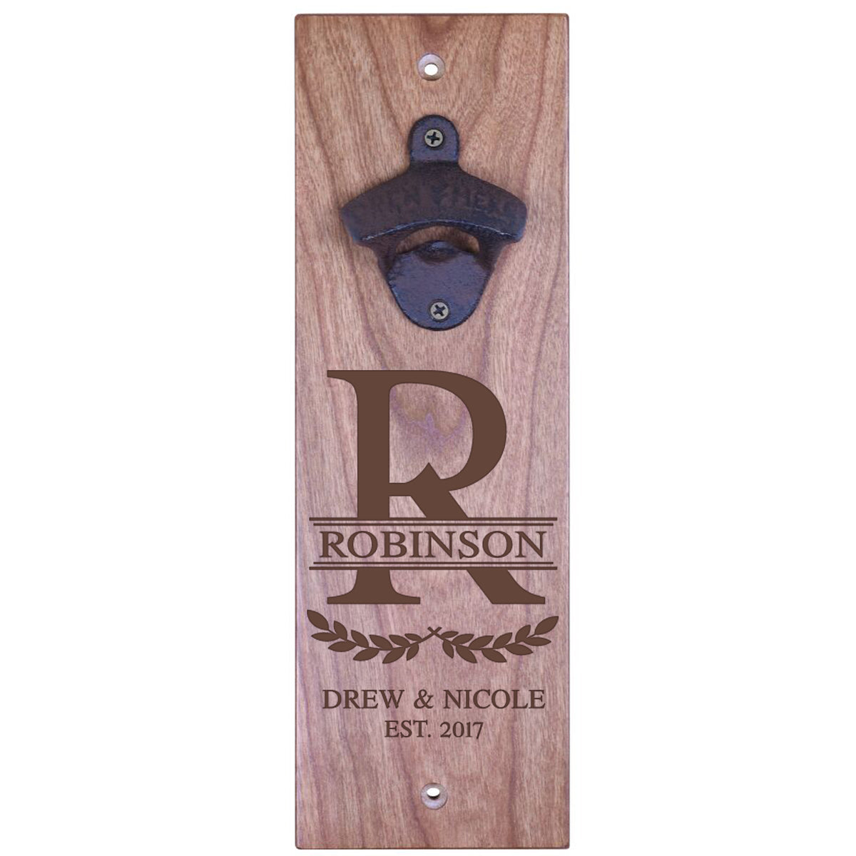 American Winekrafts Wall Mounted Bottle Opener - Monogram 2