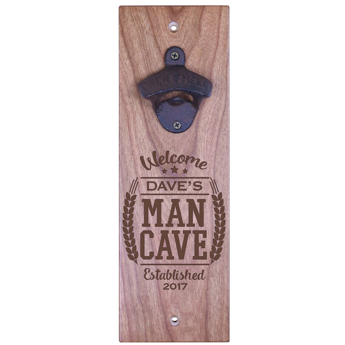 American Winekrafts Wall Mounted Bottle Opener - Welcome Man Cave