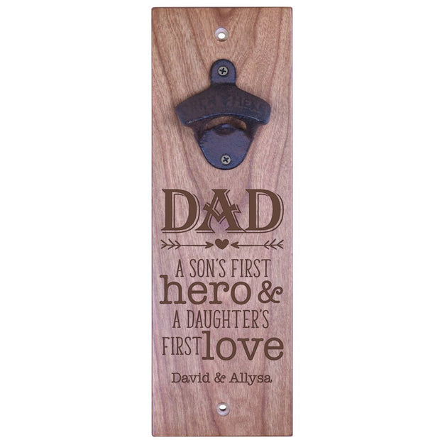 American Winekrafts Wall Mounted Bottle Opener - Dad