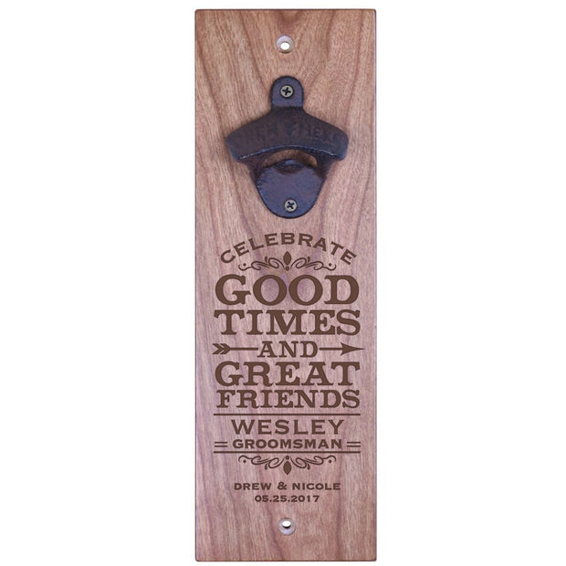 American Winekrafts Wall Mounted Bottle Opener - Groomsman