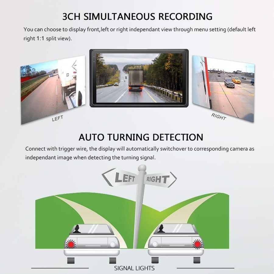 SRX2VUS 3 camera system for cars trucks and RVs