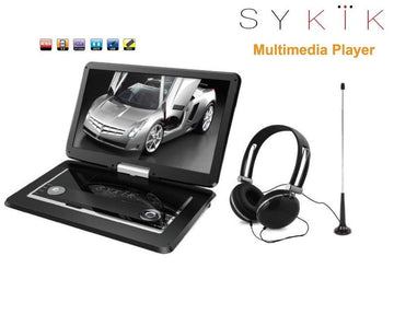 15.6'' Inch TV/portable DVD All Multi Region Zone Free HD Swivel Portable DVD Player SYDVD9113TV - SYKIK