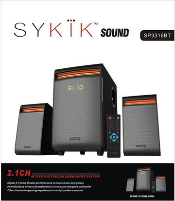 Powerful 42W RMS, Wireless Bluetooth Connection SP3316BT - SYKIK
