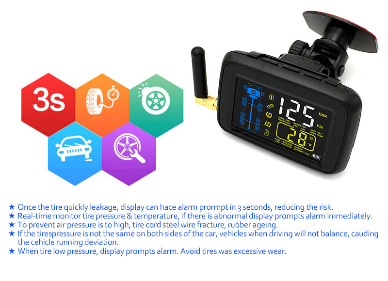 SYKIK SRTP901U  TPMS for heavy duty RVs and trucks for up to 22 wheels