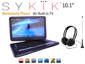 10.1'' Inch All Multi Region Zone Free HD Swivel Portable DVD Player SYDVD9116 - SYKIK