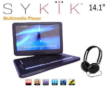 14.1'' Inch All Multi Region Zone Free HD Swivel Portable DVD Player SYDVD0133 - SYKIK