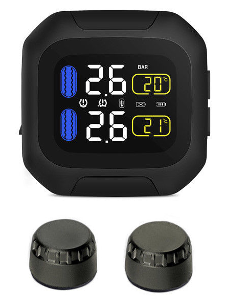"Sykik Rider SRTP300 Wireless tire pressure monitoring system for motorcycles with 1.5"" monitor. Check your tire pressure while riding - SYKIK"