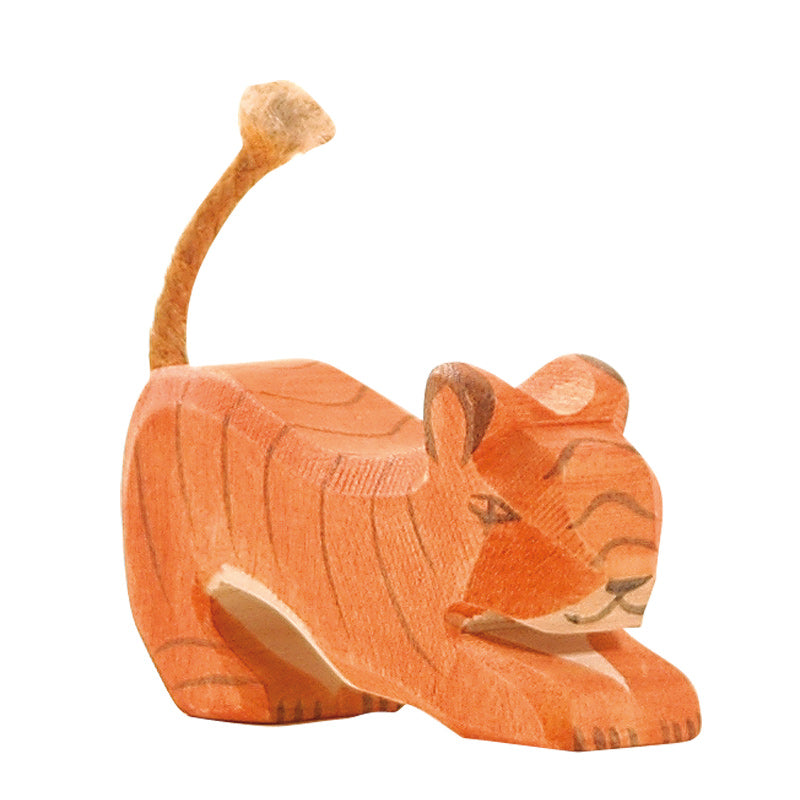 Tiger Small Lurking Wooden Toy