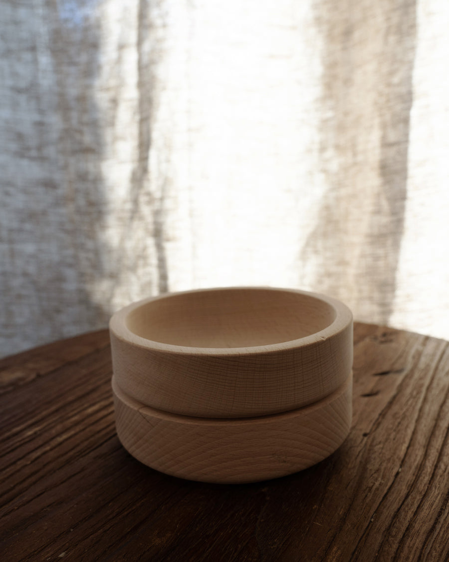 Natural Beech Wood Bowl