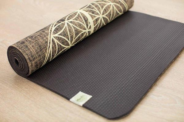 Flower Of Life Black Organic Jute 100% Eco YogaTribe